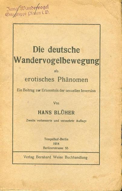 Omslag van Die deutsche Wandervogelbewegung als erotisches Phänomen